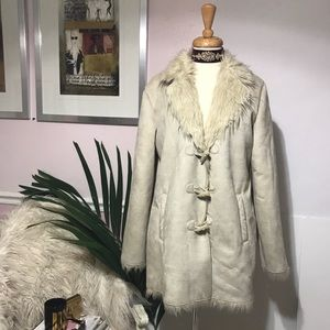 Ivory White Faux Fur Beautiful Coat